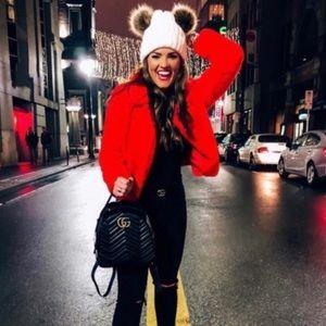 BLANK NYC Crop Faux Fur Jacket Size XS